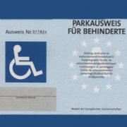 Bildergebnis für fotos vom parkausweis für schwerbehinderte