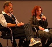Nicolas Page (links) und Nan Goldin