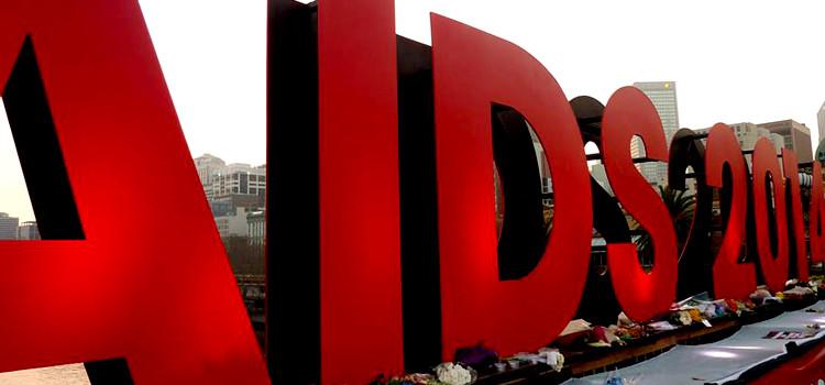 Schriftzug Aids