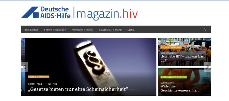 Bildschirmfoto magazin.hiv