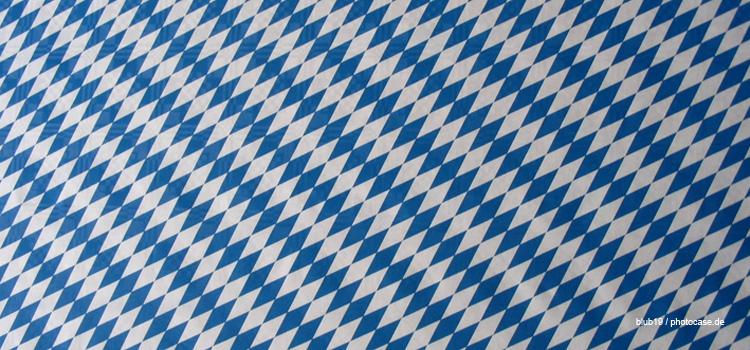 blau-weiße Rauten