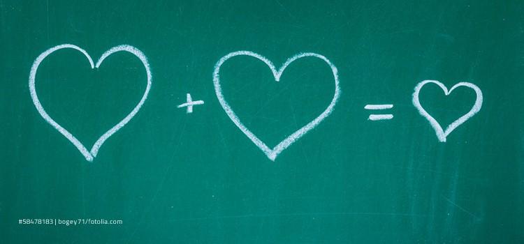 Tafel mit Herzen