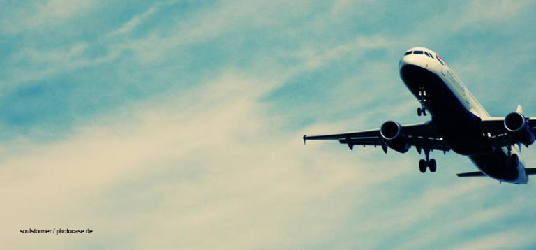 Abhebendes Flugzeug