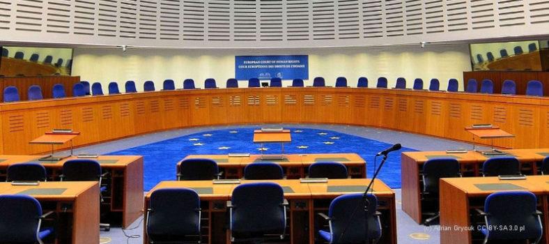 Saal des Europäischen Gerichtshofs für Menschenrechte