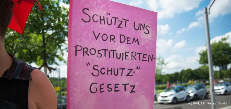 Protestierende Sexarbeiterin