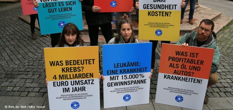 Protest von Ärzte der Welt