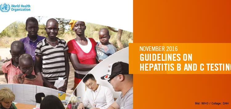 Titel der WHO-Empfehlungen zur Hepatitis-Testung
