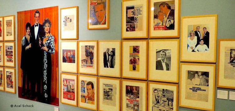Blick in die Rock-Hudson-Ausstellung