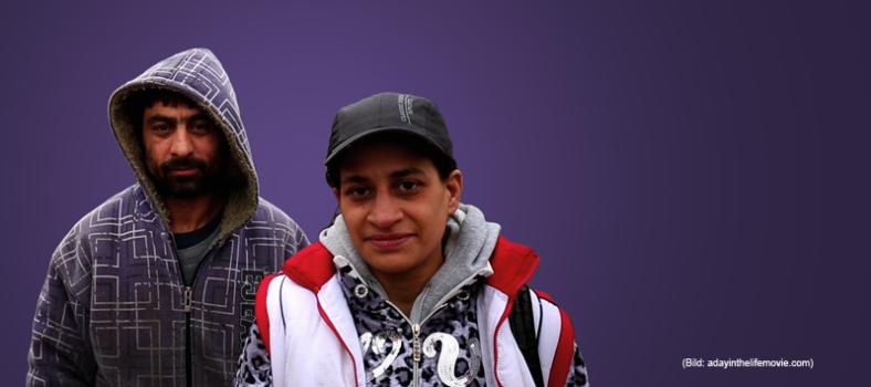 Éva und Oszkár im Film über Drogen