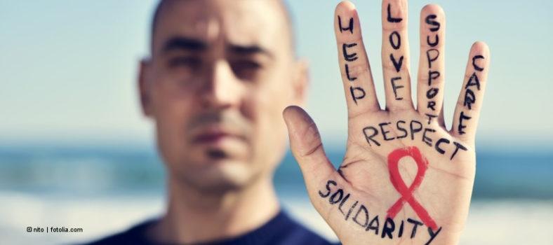 Für Solidarität mit HIV-Positiven