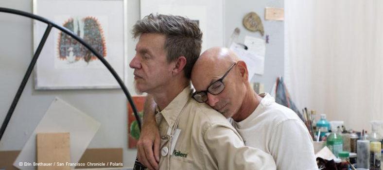 Der Langzeitüberlebende David und sein Partner Ralph