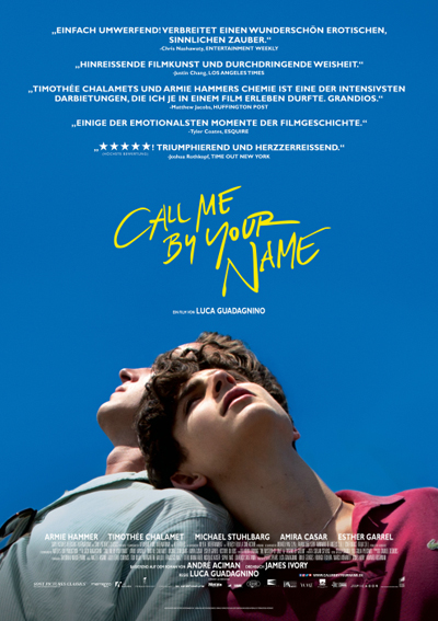 Filmplakat Call me by your name (Sony Pictures)