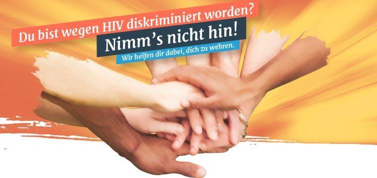 Startseite der Webseite hiv-diskriminierung.de gegen HIV-Diskriminierung