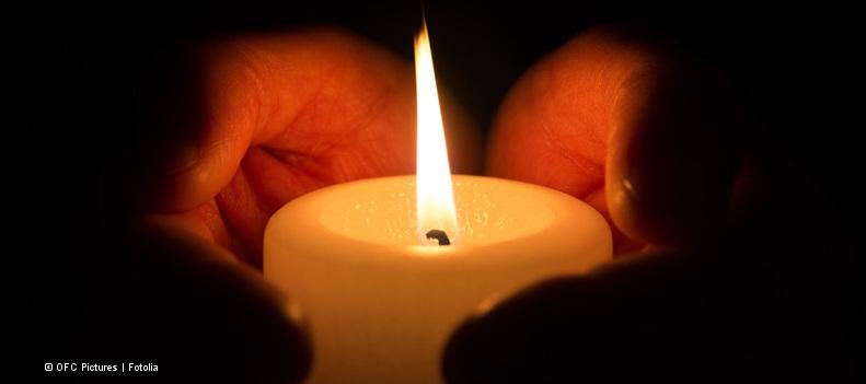 Kerze zum Gedenken