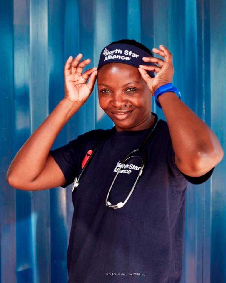 Krankenschwester der Klinik am Truck Stop Pomona