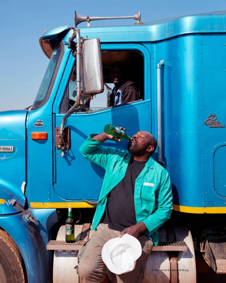 Fernfahrer am Truck Stop Pomona