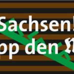 Sachsen! Stopp den Mob! Signet der Veranstaltung, Gesaltung: Eric Frymark