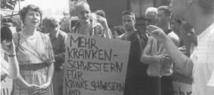 ACT-UP-Protest für mehr Unterstützung in der Pflege von Aidskranken