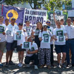 Eine Protestkundgebung, die zu einer anderen Drogenpolitik aufruft