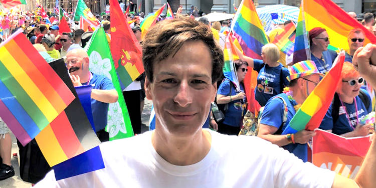 Der Autor beim World Pride in New York