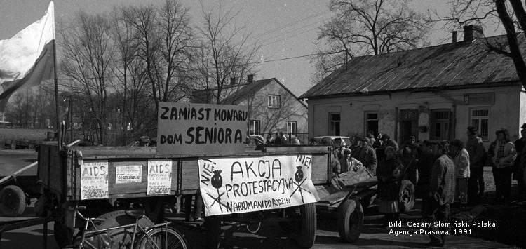 historische Fotografie zum HIV-Aktivismus in Polen