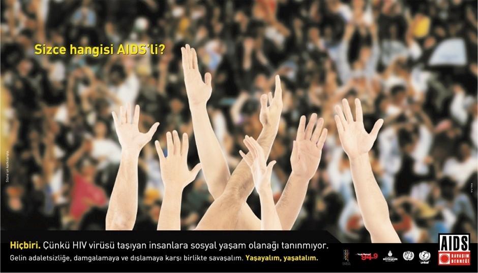 Abbildung eines Plakats der türkischen Aidshilfe-Organisation