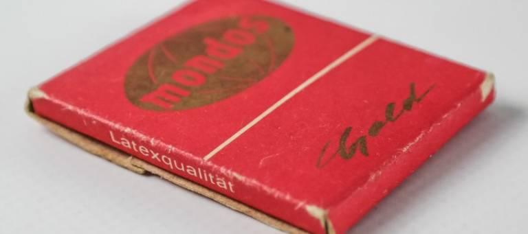 Packung Mondos-Kondome, Bild zum Beitrag zum AIDS-Memorandum DDR