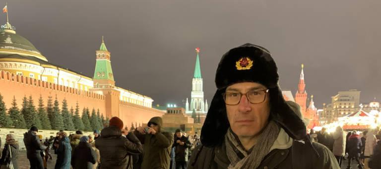 Der Autor auf dem Roten Platz.