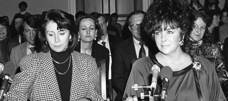Elizabeht Taylor war eine wichtige Aktivistin für die Belange der HIV-Community