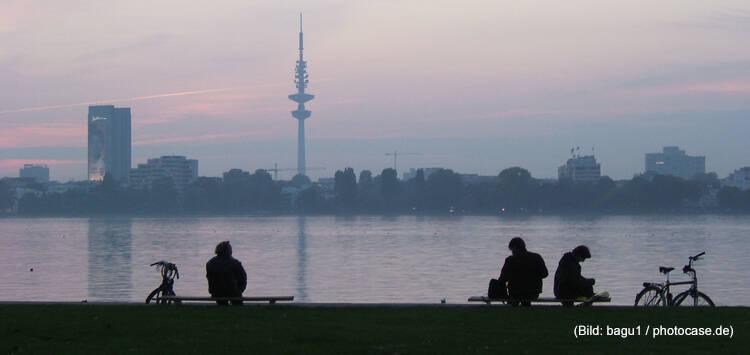 Hamburg im Abendlicht